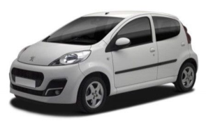 Category A | 250.00 € per month | Peugeot 107 or similar